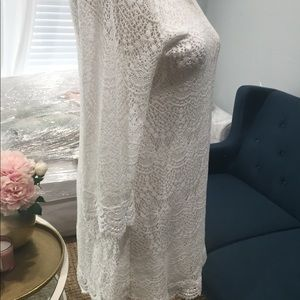 Divided Dresses - White lace dress